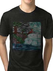 wolf by the falls Tri-blend T-Shirt