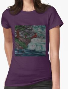 wolf by the falls Womens Fitted T-Shirt