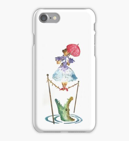 Perilous Pink Parasol - Stretching Portrait iPhone Case/Skin