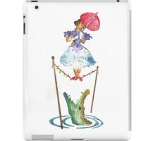 Perilous Pink Parasol - Stretching Portrait iPad Case/Skin