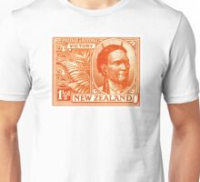 1920 New Zealand Maori Chief Postage Stamp Unisex T-Shirt