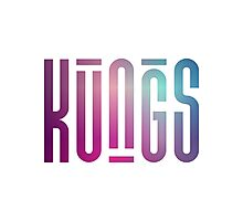 KUNGS - Blue Violet Photographic Print