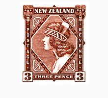 1936 New Zealand Maori Girl Postage Stamp Unisex T-Shirt