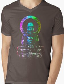 Buddha (Digital Galaxy Rainbow Colors) Mens V-Neck T-Shirt