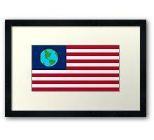 FUTURAMA | EARTH FLAG | CHEST LOGO Framed Print
