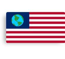 FUTURAMA | EARTH FLAG | CHEST LOGO Canvas Print