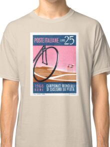 1968 Italy Bicyle Velodrome Postage Stamp Classic T-Shirt
