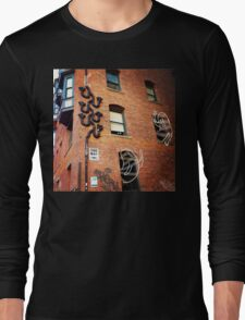 Cute Alley Ghosts Long Sleeve T-Shirt