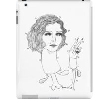 Lovely Lady (black design) iPad Case/Skin