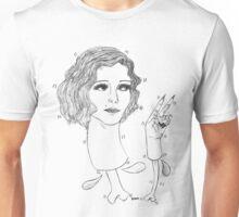 Lovely Lady (black design) Unisex T-Shirt