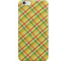 Green Yellow and Orange Plaid Fabric Design iPhone Case/Skin