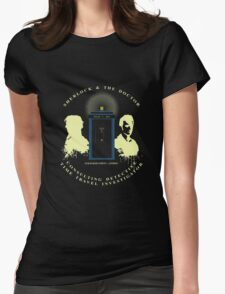SHERLOCK AND 10TH Womens Fitted T-Shirt