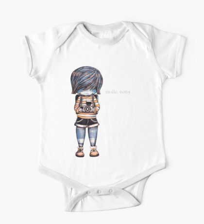 Smile Baby - Retro Tee One Piece - Short Sleeve