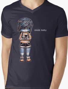 Smile Baby - Retro Tee Mens V-Neck T-Shirt