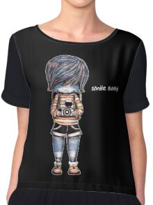 Smile Baby - Retro Tee Chiffon Top