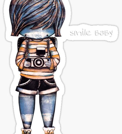 Smile Baby - Retro Tee Sticker