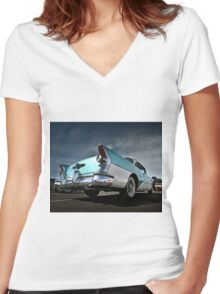Buick Century Women's Fitted V-Neck T-Shirt