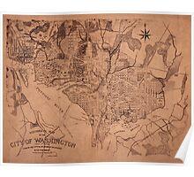 Map Of Washington 1802 Poster