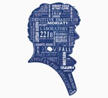 sherlock blue typography One Piece - Short Sleeve