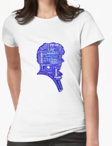 sherlock blue typography Womens Fitted T-Shirt