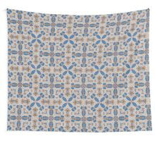 Blue, brown & beige Wall Tapestry
