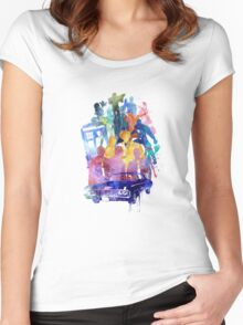 SUPER FANDOM COLLAGE Women's Fitted Scoop T-Shirt