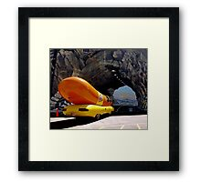 Sometimes a Wienermobile going into a tunnel mural is just a Wienermobile going into a tunnel mural. Framed Print