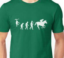 Evolution of Man And Jockey Unisex T-Shirt