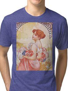Alphonse Mucha - Etesummer Tri-blend T-Shirt