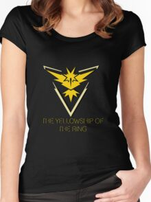Team Instinct - The Yellowship of The Ring Women's Fitted Scoop T-Shirt
