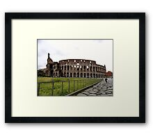 Just the Colosseum Here Framed Print