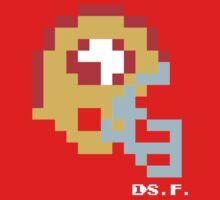 Tecmo Bowl -San Francisco - 8-bit - Mini Helmet shirt One Piece - Short Sleeve
