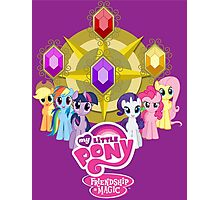 Mane 6 Elements Logo Photographic Print