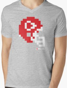 Tecmo Bowl - Kansas City - 8-bit - Mini Helmet shirt Mens V-Neck T-Shirt