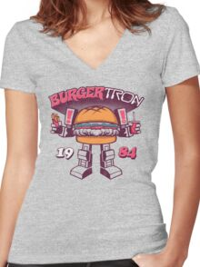BurgerTRON Women's Fitted V-Neck T-Shirt