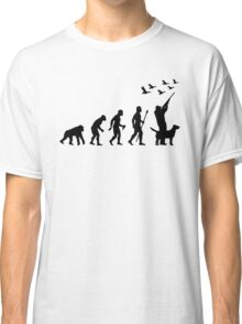 Duck Hunting Evolution Of Man Funny Silhouette Classic T-Shirt