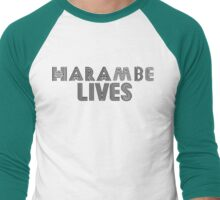 Harambe Lives Men's Baseball ¾ T-Shirt