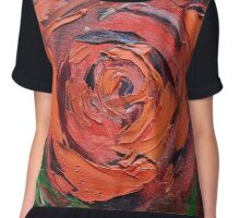 A Red Rose Chiffon Top