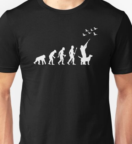 Duck Hunting Evolution Of Man Unisex T-Shirt