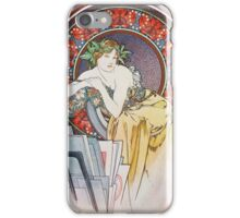 Alphonse Mucha - Femme Au Carton Dessinsgirl With Easel iPhone Case/Skin