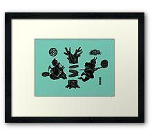 Love Letter teal Framed Print