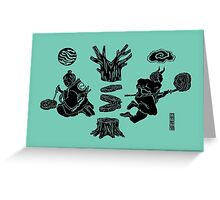 Love Letter teal Greeting Card