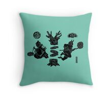 Love Letter teal Throw Pillow