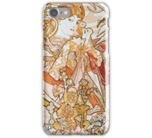 Alphonse Mucha - Femme La Margueritewoman With Daisy iPhone Case/Skin