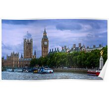 Westminster Palace from the Thames Poster
