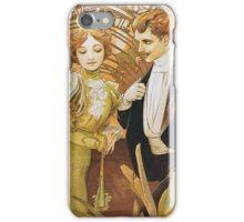 Alphonse Mucha - Flirt - Biscuits Lefevre Utile iPhone Case/Skin