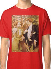 Alphonse Mucha - Flirt - Biscuits Lefevre Utile Classic T-Shirt