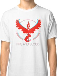 Team Valor - Fire and Blood Classic T-Shirt