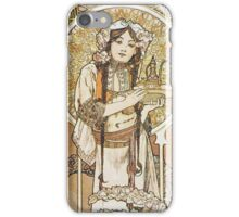 Alphonse Mucha - Gh Menu - Restaurant Du Pavillion Bosniaque iPhone Case/Skin