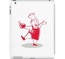 Asian Chef Serving Noodle Bowl Dancing Cartoon iPad Case/Skin